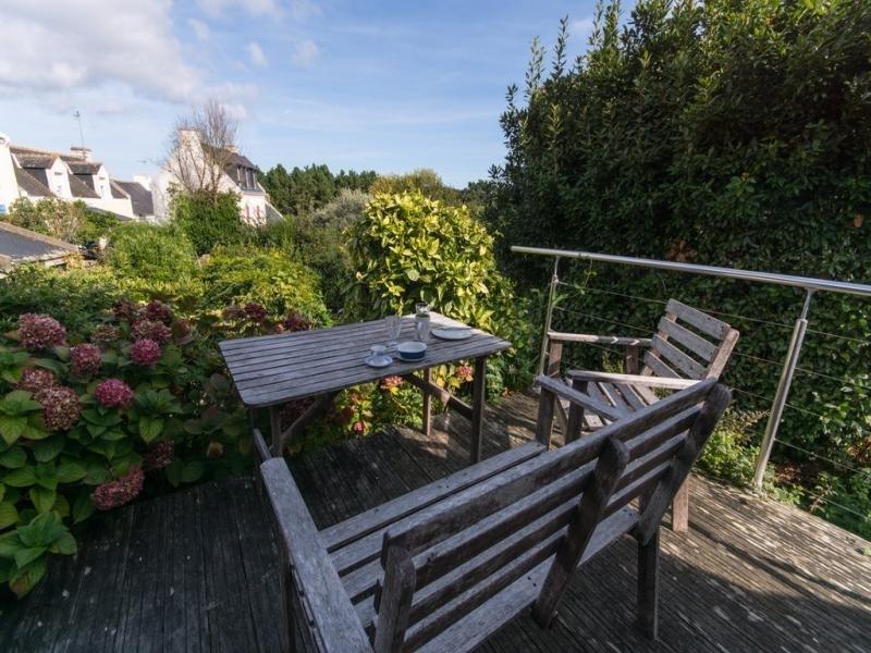 Jardins et oiseaux de la terrasse et la plage pas loin