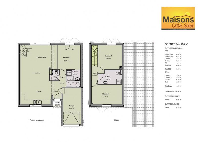 Maison  4 pièces + Terrain 350 m² Corneilla-Del-Vercol par MAISONS COTE SOLEIL