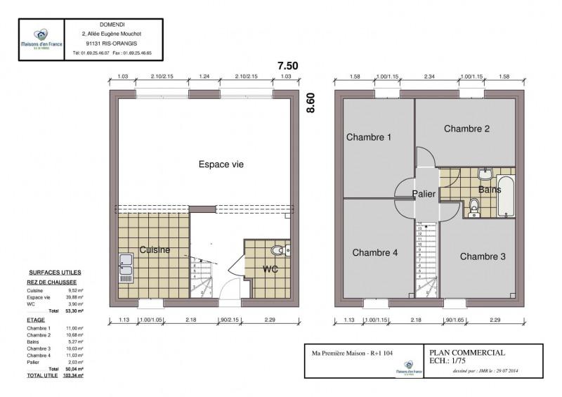 Maison  6 pièces + Terrain 215 m² Breuillet par MAISONS D'EN FRANCE