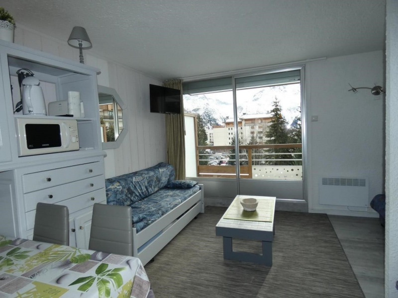 View of the building, living room with view of the