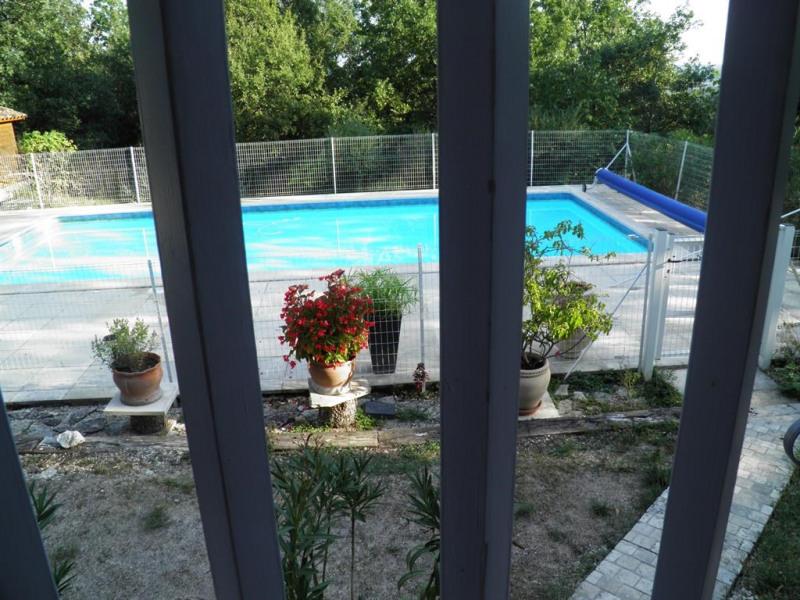 piscine vue de la terrasse 11 x 5,5