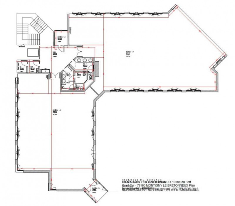 location bureau montigny le bretonneux yvelines 78 996 m r f rence n 172953. Black Bedroom Furniture Sets. Home Design Ideas