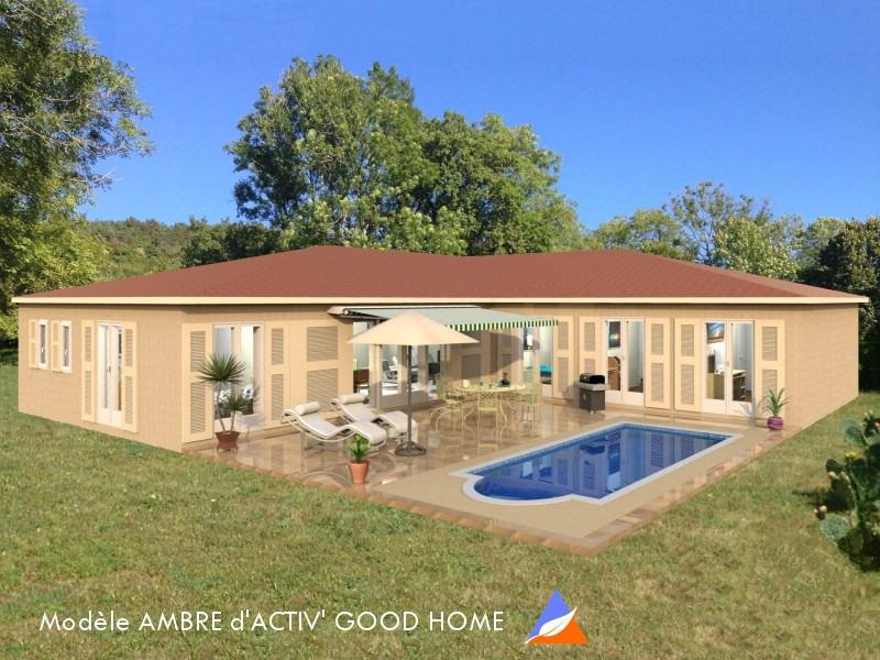 """Modèle de maison  """"AMBRE Bioclimatique - 136 m² - 4 chambres"""" à partir de 7 pièces Drôme par ACTIV GOOD HOME"""