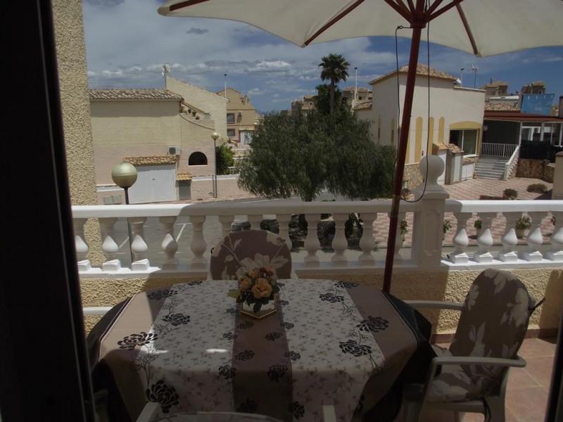 terrasse sur le balcon