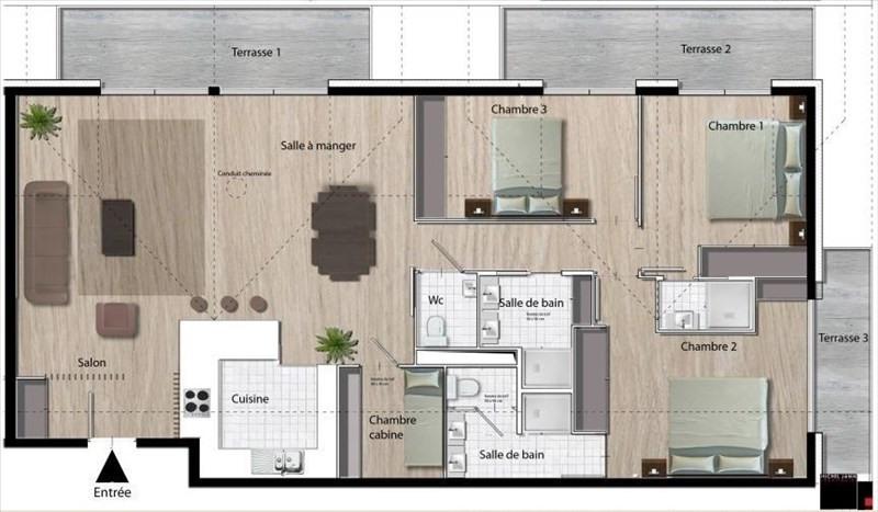 Vente de prestige Appartement 4 pièces 117m² Courchevel 1650