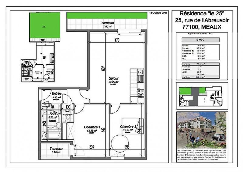 Vente Appartement 3 pièces 71,15m² Meaux