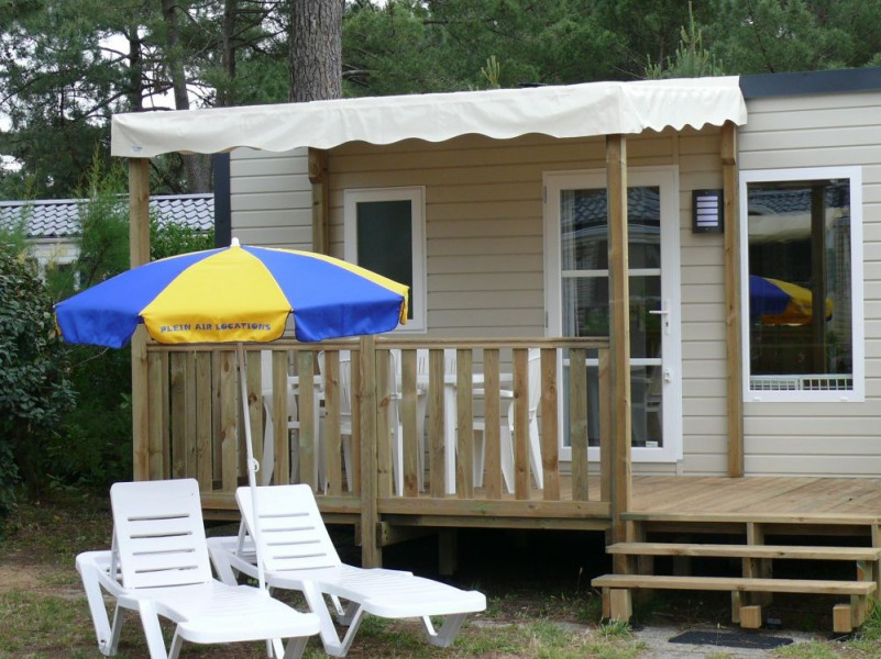 Location Mobil home 3 chambres camping 4* Les mathes