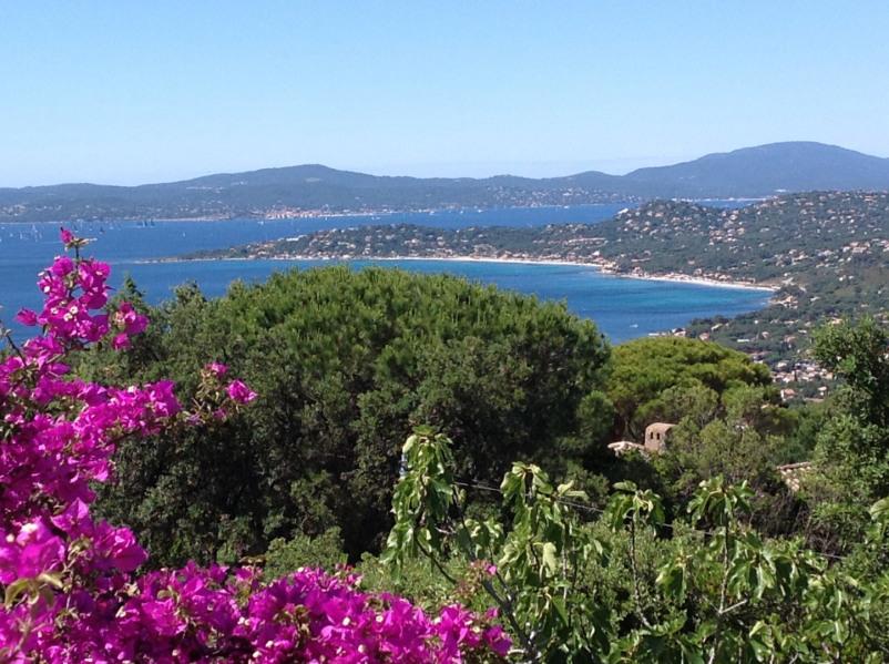 La vue sur le golfe de St Tropez