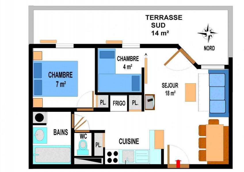Appartement 3 pièces 6 personnes (A70)
