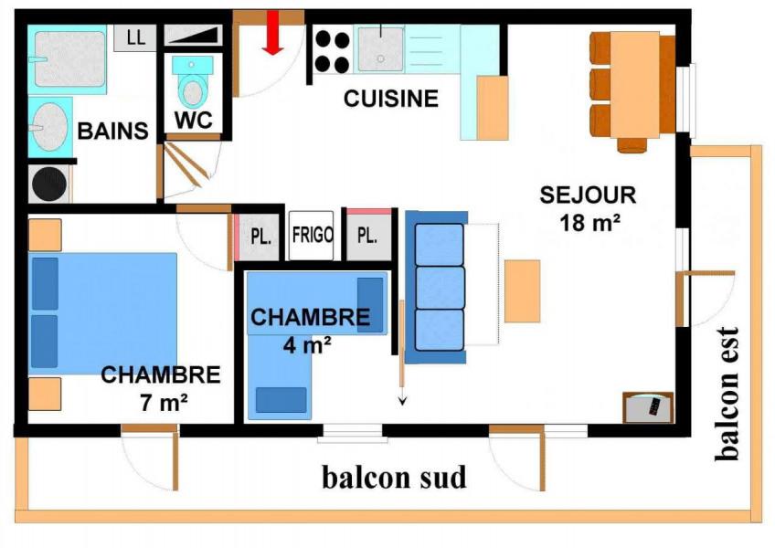 Appartement 3 pièces 6 personnes (001)