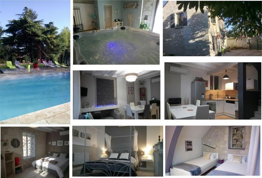 Gite 3 chambres avec séance de SPA et piscine chau