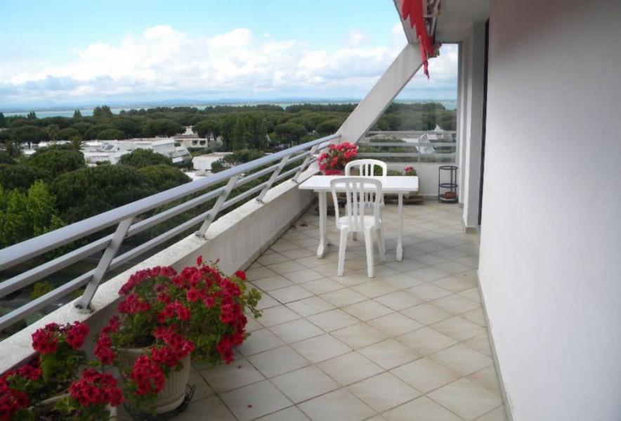 Superbe P2 environ 35 m² spacieux et clair, aménagement confortable et agréable petite vue mer et étang.