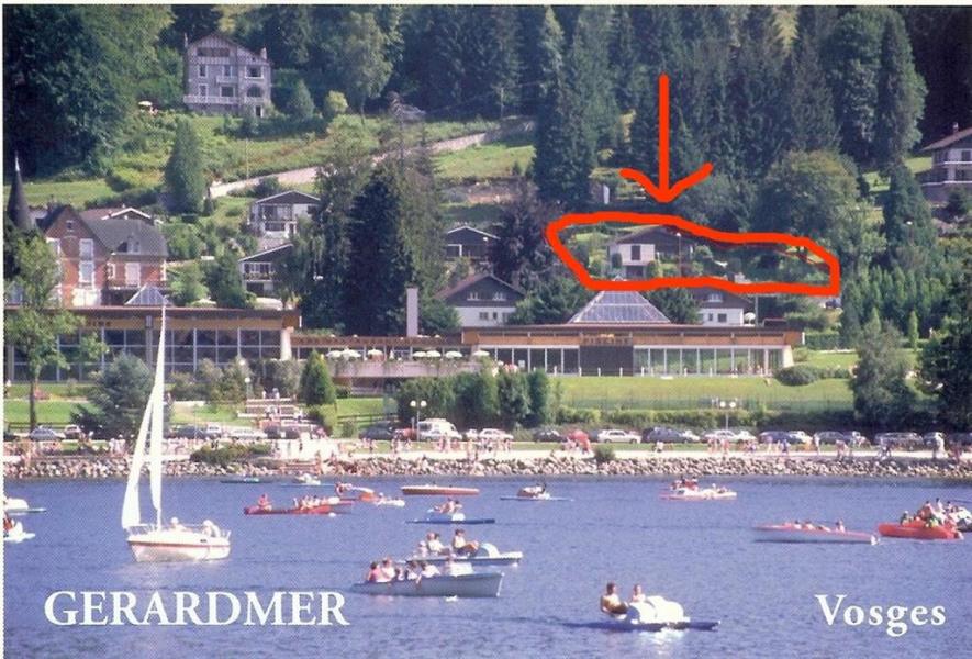 Chalet vue du lac de Gerardmer