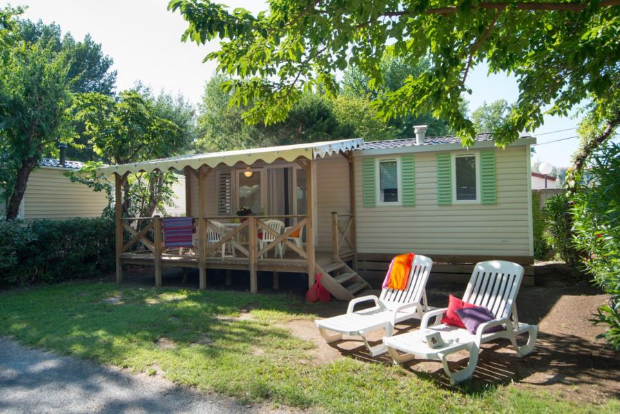 Mobil Home avec terrasse couverte