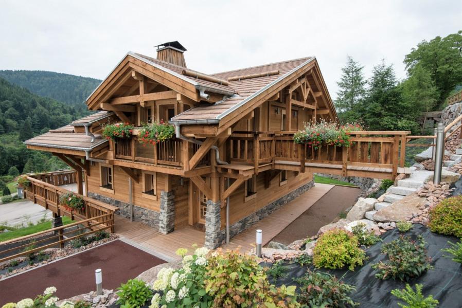 La Bresse chalet de haut standing 10/12 personnes tout confort 5 ch 4 sdb parking sauna terrasse vue montagne - La Br...