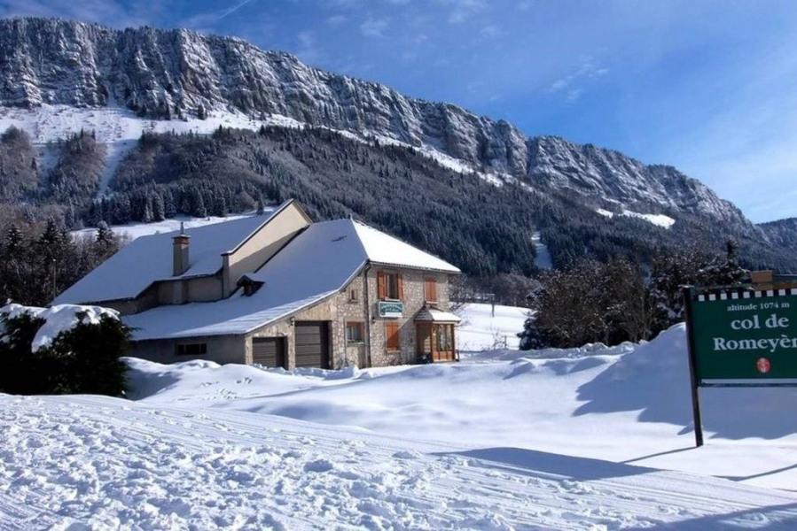 La maison en hivers est à quelques pas des remontées mécaniques de Romeyère