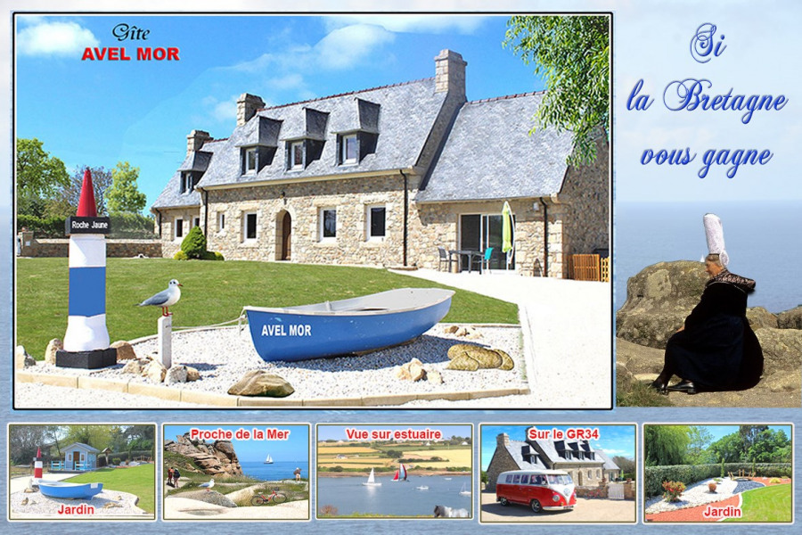 Holiday rentals Plouguiel - House - 5 persons - BBQ - Photo N° 1
