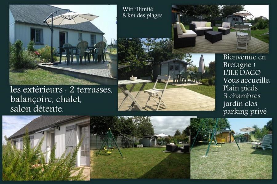 Maison pour 6 pers. avec parking privé, Pluduno