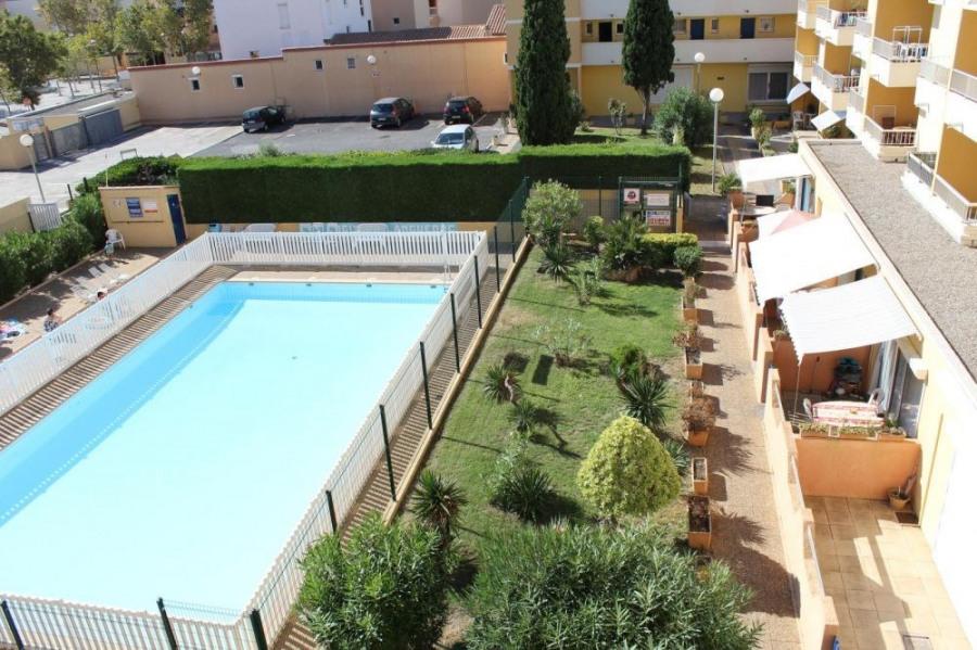 Gruissan (11) - Secteur port - Résidence Le Logis du Languedoc. Appartement studio cabine fermée ...
