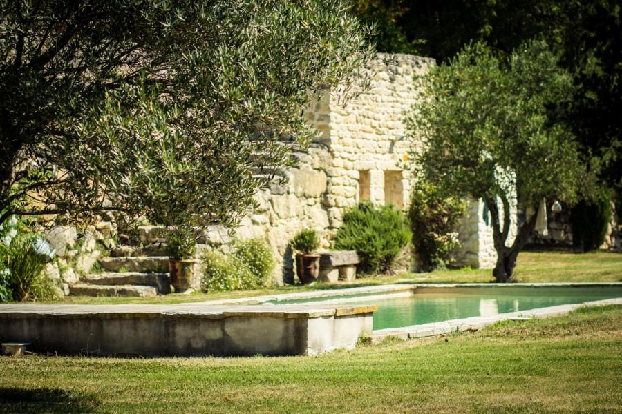 Mas Provençale, Piscine chauffée avec vue sur Mont Ventoux