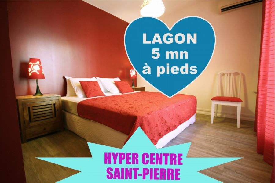 Superbe appartement dans l'hyper centre de Saint-Pierre à 5 mn à pied du lagon