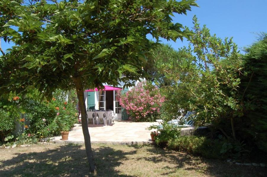 Terrasse plein Sud sur jardin arboré