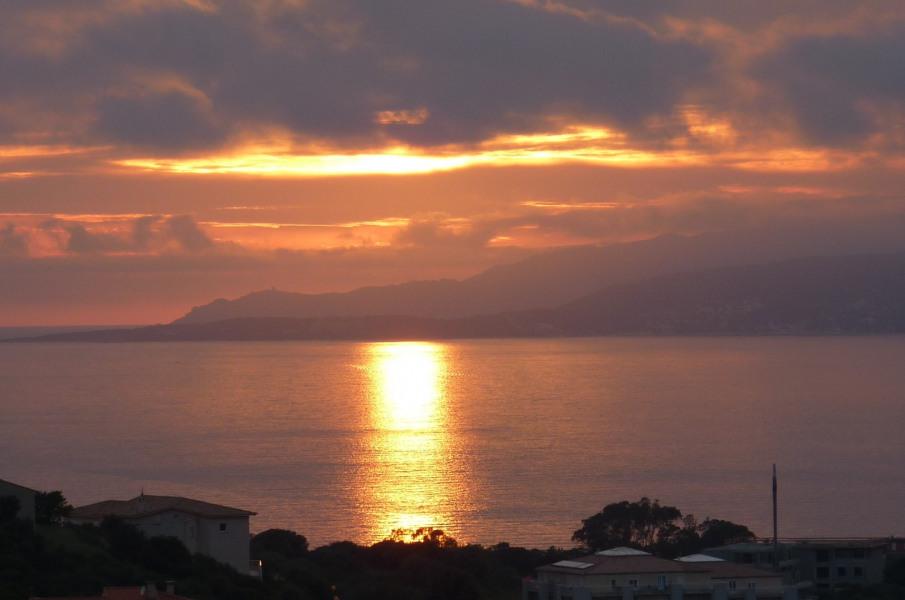 coucher de soleil depuis la résidence