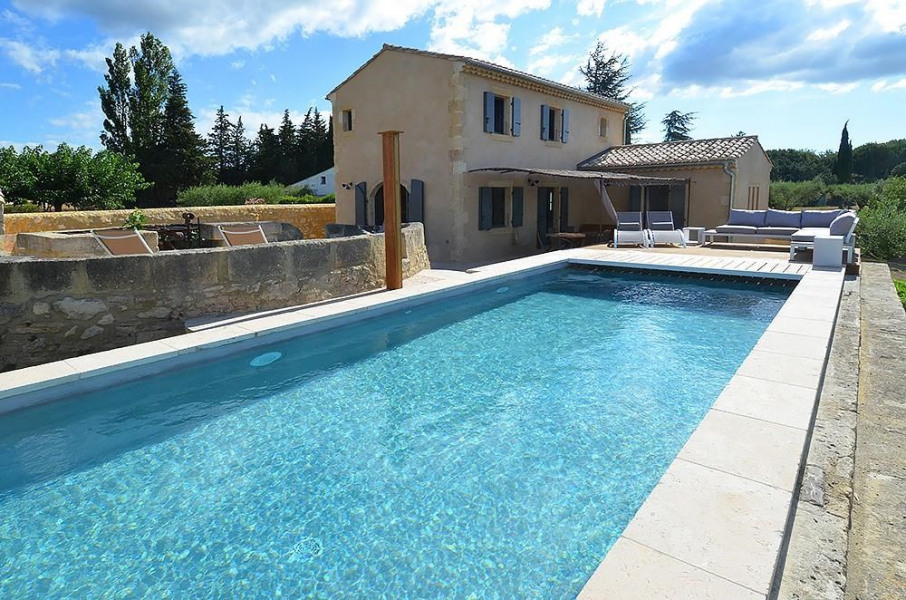 Holiday rentals Saint-Hilaire-d'Ozilhan - House - 8 persons - BBQ - Photo N° 1