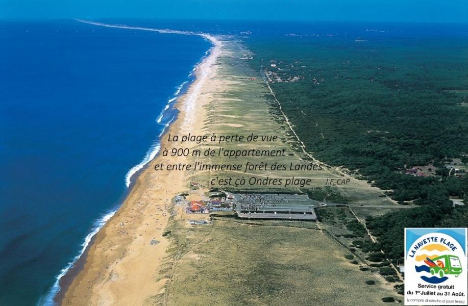 La plage à perte de vue, l'appart n'est qu'à 900 m
