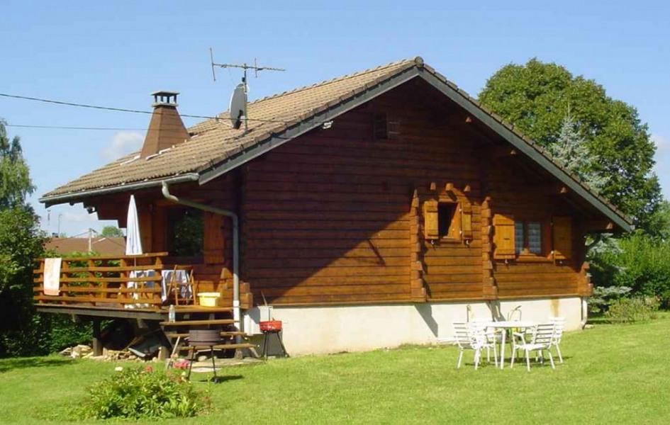 arrire du chalet - Village Vacances Jura Avec Piscine