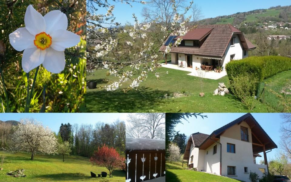 Région Annecy/Thorens-Glières :  studio location semaine, we, linge fourni - Aviernoz