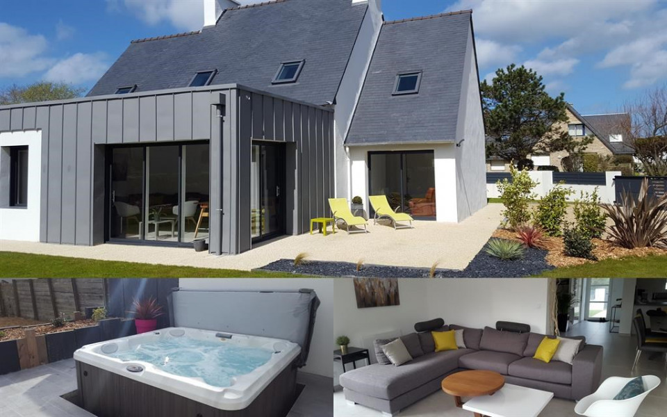 Holiday rentals Brignogan-Plages - House - 10 persons - BBQ - Photo N° 1